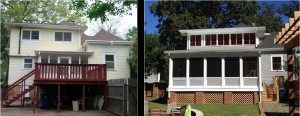 Lewis Home before and after back porch