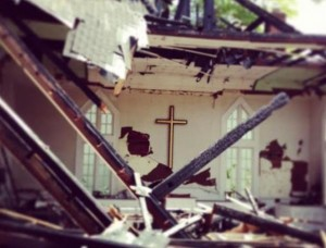 Oconee United Methodist church fire damage