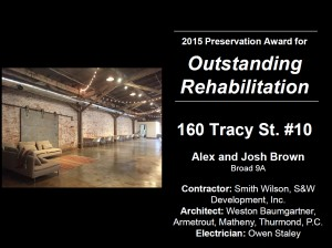 160 Tracy St 2015 Award